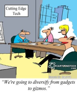 'We're going to diversify from gadgets to gizmos.'